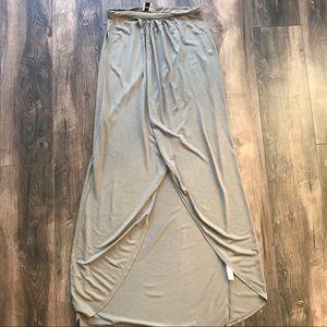 ASOS Extreme split front khaki wrap maxi skirt